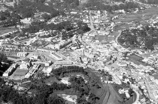 Trung tâm Đà Lạt năm 1960. Ảnh Trần Văn Châu